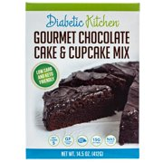 (2 Pack) Diabetic Kitchen Gourmet Chocolate Cake & Cupcake Mix Is Keto-Friendly, Low-Carb, No Sugar Added, Gluten-Free, 15g of Fiber, Non-GMO, No Artificial Sweeteners or Sugar Alcohols
