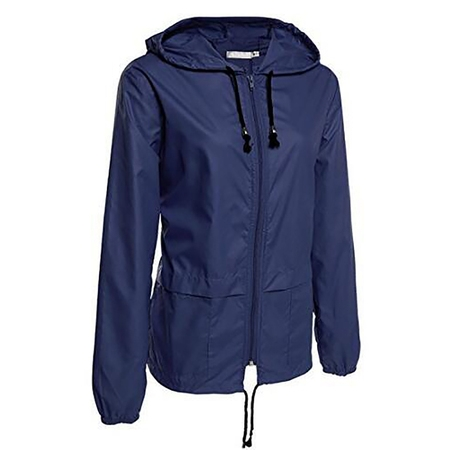 JustVH Women's Lightweight Jackets Waterproof Windbreaker Packable Outdoor Hooded Active Hiking Raincoat (Tartan Hooded Down Coat)