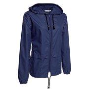 fd99133708b JustVH Women s Lightweight Jackets Waterproof Windbreaker Packable Outdoor  Hooded Active Hiking Raincoat