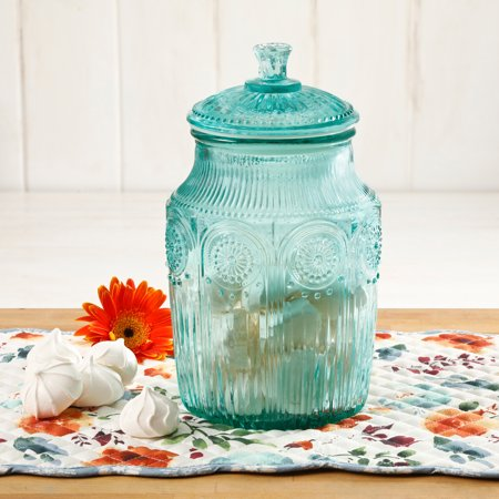 The Pioneer Woman Adeline Glass Canister, Multiple Colors - Glass Canister Jar Set