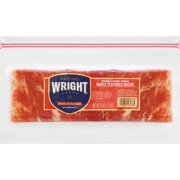 Wright Brand® Thick Sliced Hickory Smoked Maple Flavored Bacon, 1.5 lb.