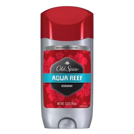 Old Spice Red Zone Aqua Reef Scent Deodorant for Men, 3.0 oz