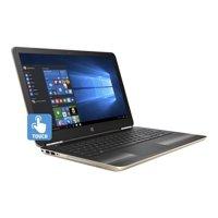 "HP Pavilion 15-au030wm - Core i5 6200U / 2.3 GHz - Win 10 Home 64-bit - 8 GB RAM - 1 TB HDD - DVD SuperMulti - 15.6"" touchscreen 1366 x 768 ( HD ) - HD Graphics 520 - Wi-Fi - ash silver keyboard frame, modern gold (cover)"
