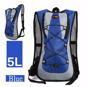 05b4873671 5L Outdoor Cycling Backpack Survival Hydration Pack 2L Liter Straw Water  Bladder Bag Large Storage Backpack