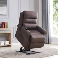 Linder Power Recliner and Lift Chair in Chocolate Nubuck
