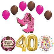 Wild West Cowgirl Boots Western 40th Birthday Party Supplies
