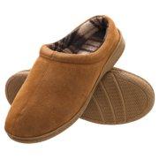 Heat Edge Men's Memory Foam Suede Slip On Indoor/Outdoor Clog Slipper Shoe