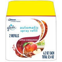 Glade Automatic Spray Refill Apple Cinnamon, Fits in Holder For Up to 60 Days of Freshness, 6.2 oz, Pack of 2