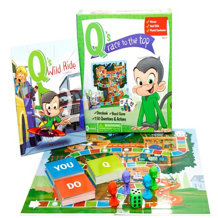 - Q's Race To The Top Board Game with Free Book