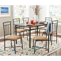 Mainstays 7-Piece Dining Set, Wood and Metal