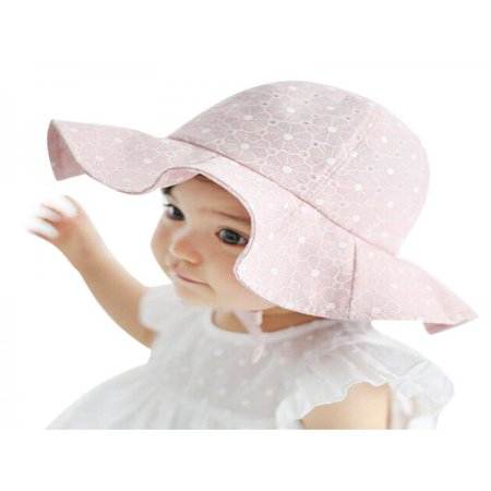 OUMY Baby Girl Sun Hat Outdoor Protected Cap (Gingham Baby Hats)