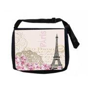 3ebbb86a78f8 Vintage Paris Design Black Laptop Shoulder Messenger Bag and Small Wire  Accessories Case Set