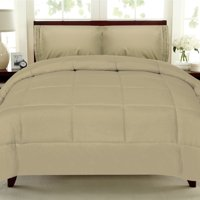 All Seasons Down Alternative Comforter Solid Color Box Stitch
