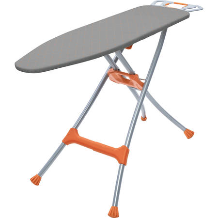 - Homz Durabilt DB100 Steel Mesh Top Ironing Board, Silver/Orange