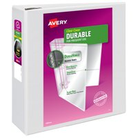 """Avery 4"""" Durable View Binder, EZD Ring, White, 780 Sheets"""