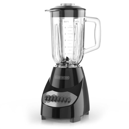 BLACK+DECKER Countertop Blender with 5-Cup Glass Jar, Black, (Black And Decker Blender Food Processor Combo)