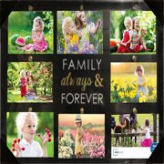 Mainstays Plank 8-opening Black Collage Frame