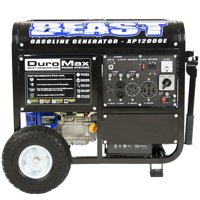 DuroMax 12000-Watt 18 HP Gasoline Powered Electric Start Portable Generator with Wheel Kit