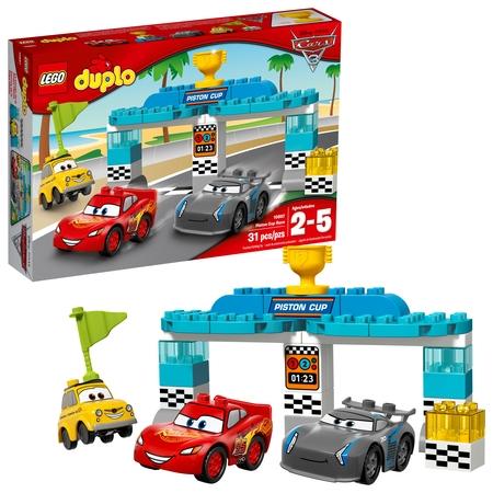 Logo Plastic Cups (LEGO DUPLO Cars TM Piston Cup Race 10857 (31 Pieces) )