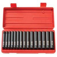 TEKTON 1/2-Inch Drive Deep Impact Socket Set, Metric, Cr-V, 6-Point, 10 mm - 24 mm, 15-Sockets | 4883