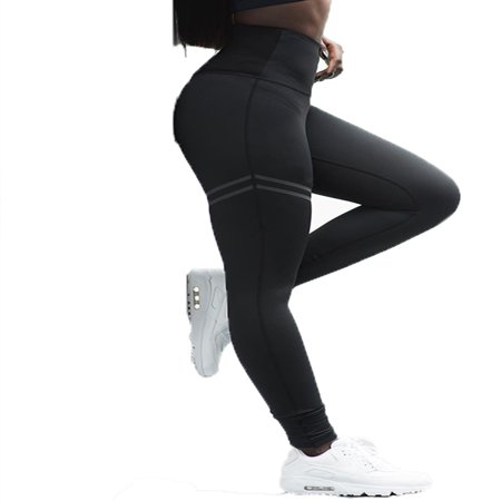 Womens Sport Leggings High Waist Pants Trousers Fitness Yoga Gym Workout