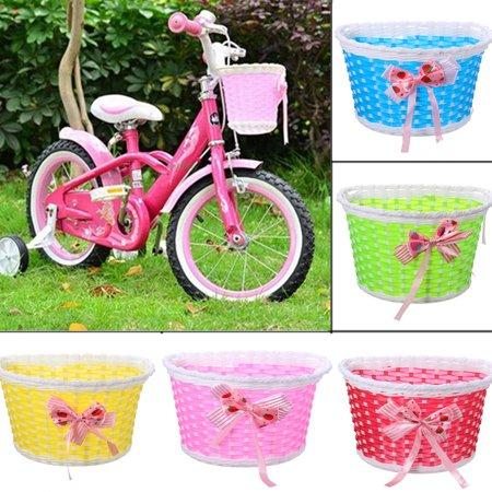 Kids Children Bike Wicker Plastic Bike Front Basket Shopping Holder Case ()