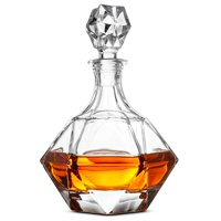 Glass Whiskey Liquor Decanter - High-End Modern Wine Decanter Weighted Bottom European Design 100% Lead Free Crystal Clear For Scotch, Liquor, Bourbon Etc. Whiskey Decanter With Magnetic Gift Box