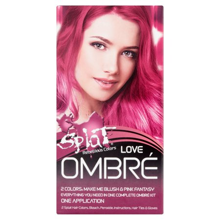 Splat Rebellious Colors Love Ombr Hair Color Kit 1 (Splat Rebellious Colors Complete Kit Neon Green)