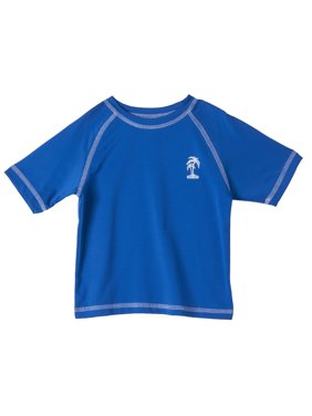Short Sleeve Solid Rash Guard (Little Boys)