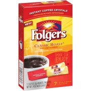 (4 Pack) Folgers Classic Roast Instant Coffee Single-Serve Packets, 7 Count