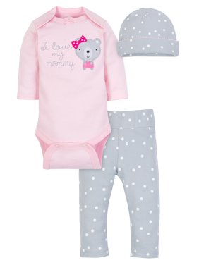 Take Me Home Outfit Set, 3-piece (Baby Girls)