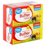 Great Value Sweet Cream Salted Butter Twin Pack, 16 oz, 2 count