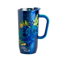 The Pioneer Woman® 20 oz Frontier Stainless Steel Double Wall Vacuum Insulated Blue Travel Mug with Handle and Lid