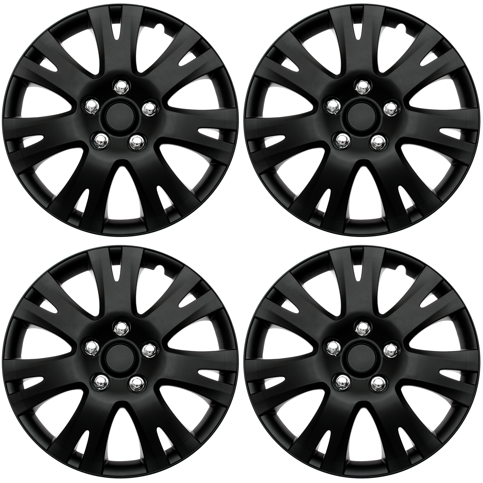 hubcaps 1956 Dodge Station Wagon 4 pc set hub cap abs black matte 16 inch for oem steel wheel cover