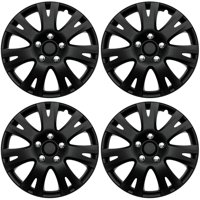 wheel accessories walmart 2014 Toyota Corolla Red product image 4 pc set hub cap abs black matte 16 inch for oem steel wheel cover