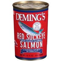 (2 Pack) Deming's Red Sockeye Wild Caught Alaskan Salmon, 14.75 Oz