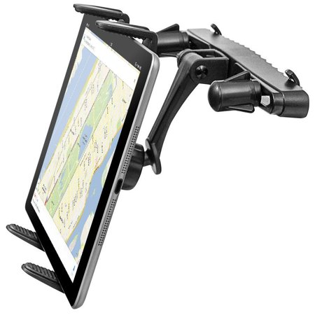 Digitl Headrest Tablet Car Mount Backseat Holder for Dragon Touch w/ Anti-Vibration Rear Seat Swivel Cradle (use with or without case)