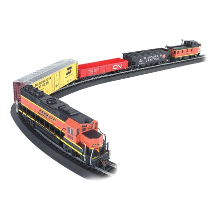Bachmann Trains Rail Chief BNSF Freight Electric Train Set, HO Scale | 706-BT