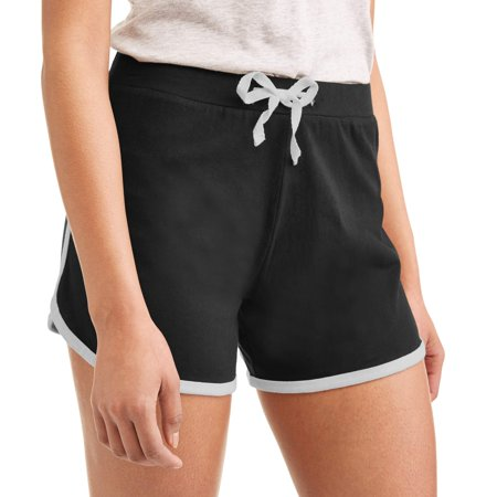 Women's Athleisure Essential Dolphin Hem Short With Contrast Piping