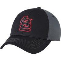 St. Louis Cardinals Fan Favorite Blackball Adjustable Hat - Black/Charcoal - OSFA