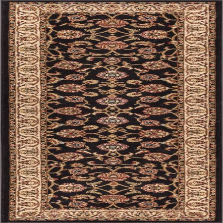 Well Woven Barclay Sarouk Traditional Oriental Black 2'7
