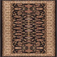 """Well Woven Barclay Sarouk Traditional Oriental Black 2'7"""" x 9'6"""" Runner Rug"""