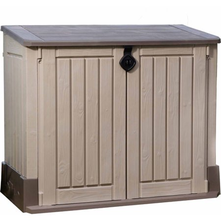 Keter Store-It-Out Midi 30-Cu Ft Resin Storage Shed, All-Weather Plastic Outdoor Storage, (Best Price On Storage Sheds)