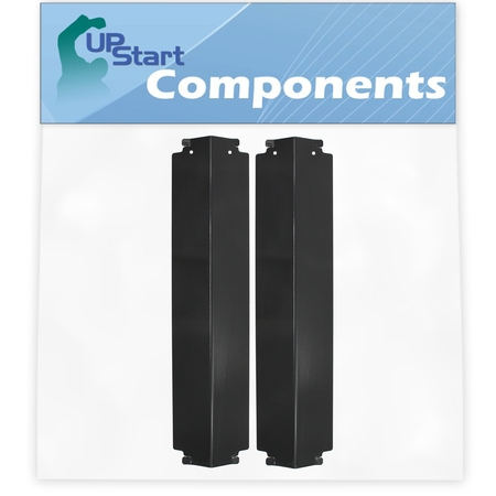 """2-Pack BBQ Grill Heat Shield Plate Tent Replacement Parts for Coleman G52203 - Compatible Barbeque Porcelain Steel Flame Tamer, Guard, Deflector, Flavorizer Bar, Vaporizer Bar, Burner Cover 16"""""""