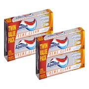 (4 Pack) Aquafresh Extreme Clean Mint Blast Fluoride Toothpaste Twin Pack, 5.6 oz