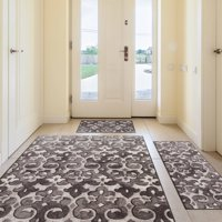 Mainstays Remi Rug, 3-Piece Set, Taupe/Cream