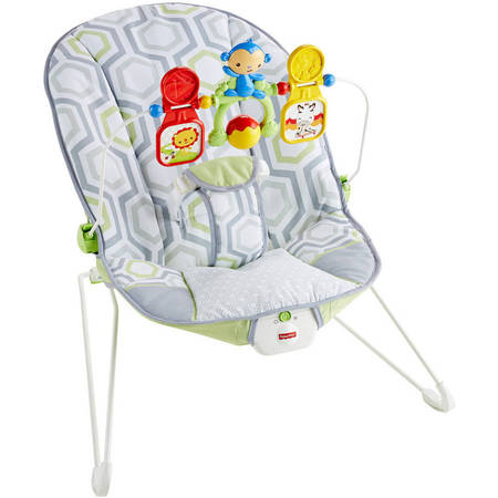 Fisher-Price Bouncer, Geo Meadow with Removable Toy