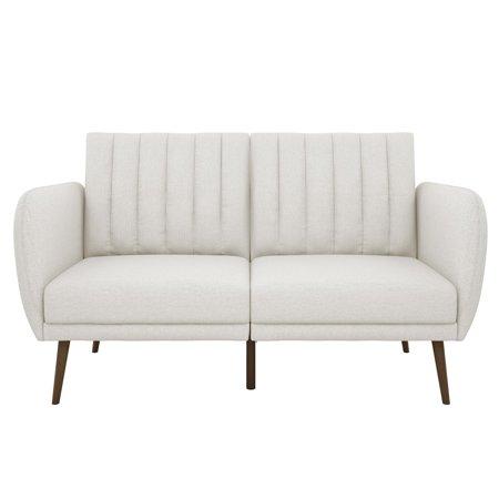 Novogratz Brittany Linen Futon Couch, Multiple Colors
