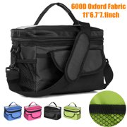 600D Oxford Fabric Waterproof Lunch Box Bag Tote Hot Cold Insulated Thermal  Cooler Work School Travel 30bc1935ea21