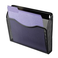 Rolodex Single Pocket Wire Mesh Wall File, Letter, Black